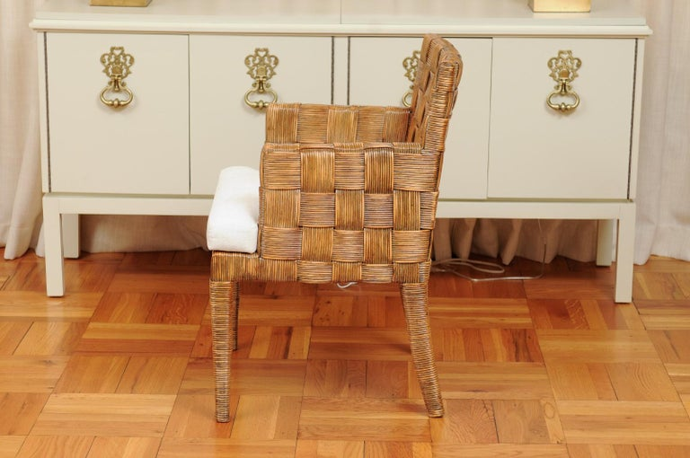 Stellar Set of 8 Block Island Arm Dining Chairs by John Hutton for Donghia For Sale 9