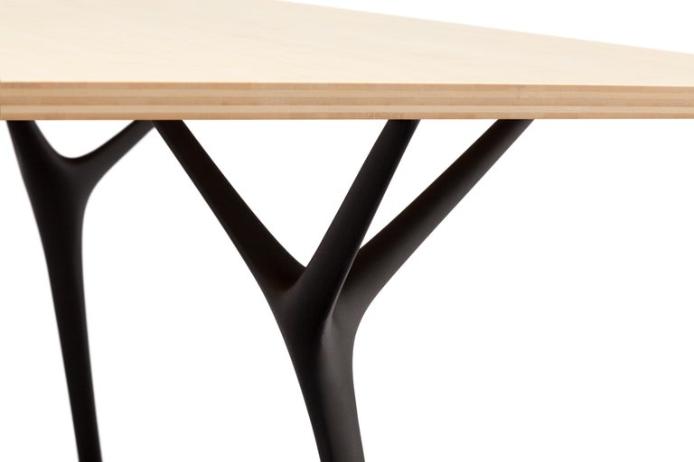 Minimalist Stellarnova, Recycled Cast Aluminum Legs & Bamboo Dining Table by Made in Ratio For Sale