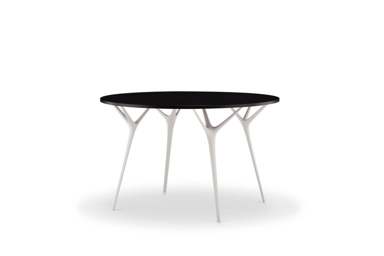 Stellarnova, Recycled Cast Aluminum Legs & Bamboo Dining Table by Made in Ratio In New Condition For Sale In London, GB