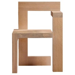 Steltman Chair in Oak, Designed in 1963 by Gerrit Rietveld