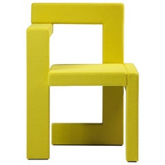 Steltman Chair in Yellow Felt, Designed in 1963 by Gerrit Rietveld