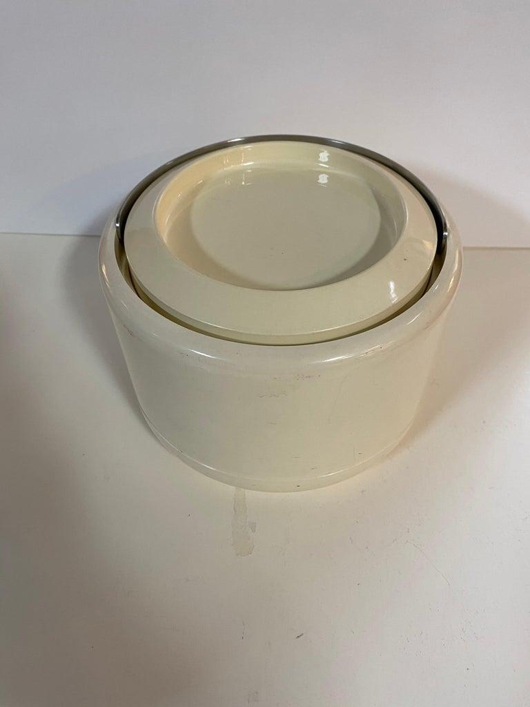 Danish Stelton Erik Magnusson Minimalist Off-White Ice Bucket For Sale