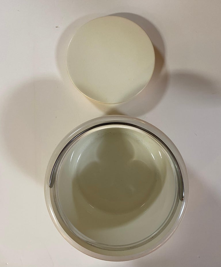 Mid-20th Century Stelton Erik Magnusson Minimalist Off-White Ice Bucket For Sale