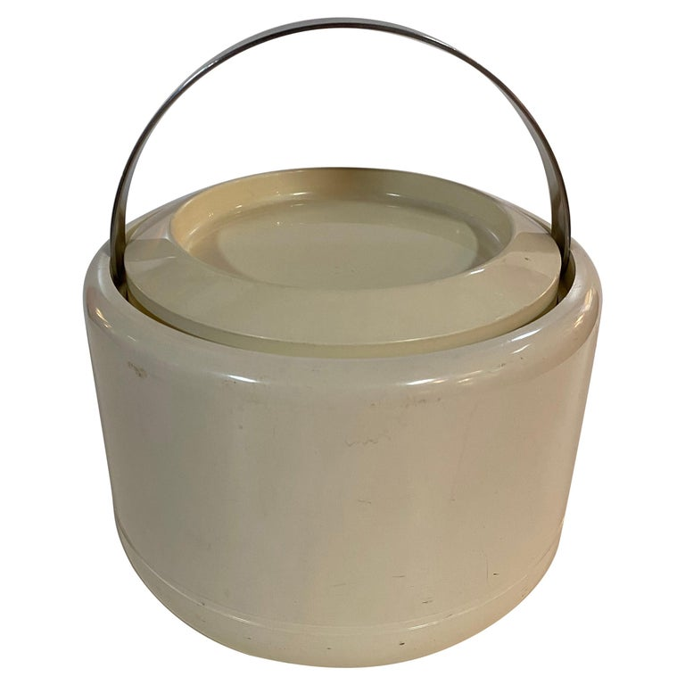 Stelton Erik Magnusson Minimalist Off-White Ice Bucket For Sale