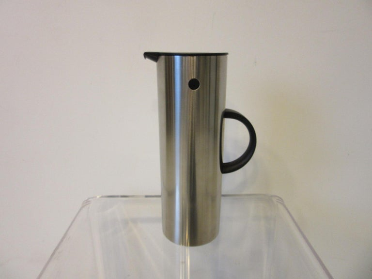 Mid-Century Modern Stelton Pitcher / Tea Pot / Sugar Bowl / Tray 4 Pieces, Set Denmark
