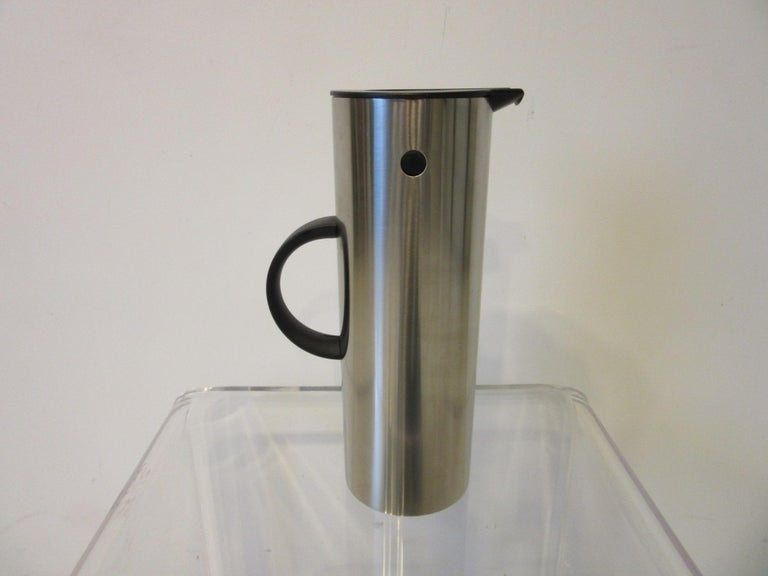 Danish Stelton Pitcher / Tea Pot / Sugar Bowl / Tray 4 Pieces, Set Denmark
