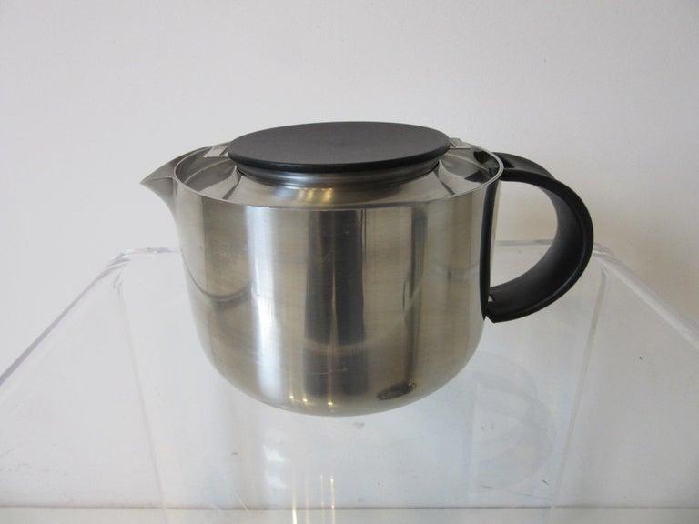 Stelton Pitcher / Tea Pot / Sugar Bowl / Tray 4 Pieces, Set Denmark In Good Condition In Cincinnati, OH