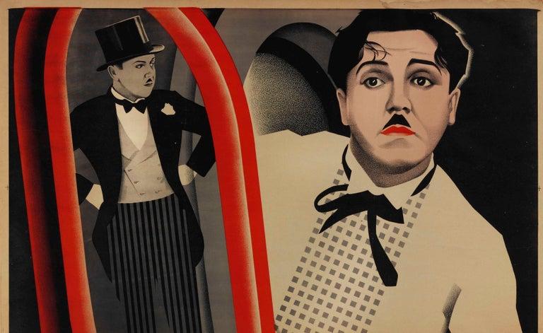 Rare Stenberg Brothers Constructivist Movie Poster Perfect Gentleman Monty Banks - Black Print by Stenberg Brothers