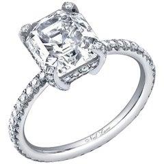 Neil Lane Couture Step-Cut Diamond, Platinum Ring