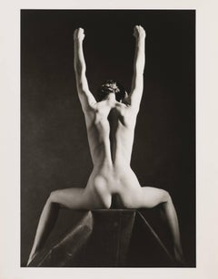 Nude.Anki. Fashion pothography of a woman in black and white, New York, 1984