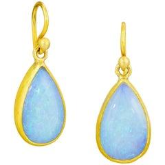 Stephanie Albertson Australian Opal and 22 Karat Gold Drop Earring