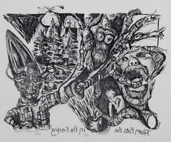 """""""Adam Eats Eve in the Evening"""" Original Lithograph signed by Stephanie Astrinsky"""