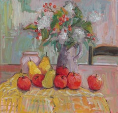August Arrangment, Painting, Oil on Canvas