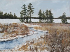 December Field, Painting, Oil on Canvas