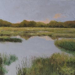 Florida Lake, Painting, Oil on Canvas