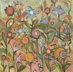Flower Maze, Painting, Oil on Canvas