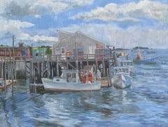 Jonesport Wharf, Painting, Oil on Canvas