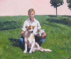 Philip and Friends, Painting, Oil on Canvas