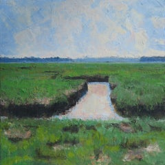 Scarborough Marsh, Painting, Oil on Canvas