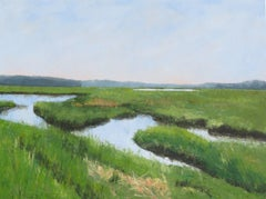 Scarborough Marsh West, Painting, Oil on Canvas