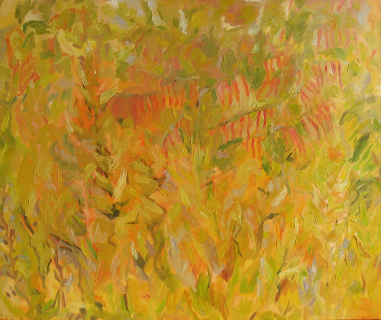 Stephanie Berry Abstract Painting - Sumac, Painting, Oil on Canvas
