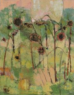 Sunflower Garden, Painting, Oil on Canvas