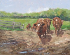 The Cows Come Home, Painting, Oil on Canvas