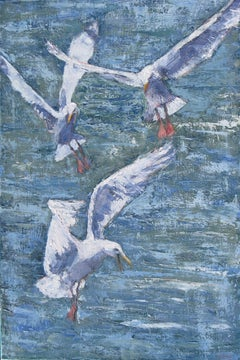 The Gulls, Painting, Oil on Canvas