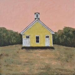 Yellow Schoolhouse, Painting, Oil on Canvas