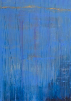 Symphony in Blue, Acrylic, Abstract, Blue, painting, colorful
