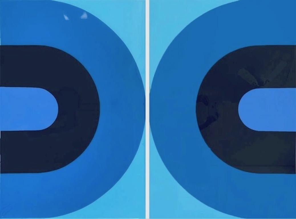 Groove (Glossy Blue) in 2 Parts