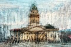 Gendarmenmarkt- semi abstract contemporary urban cityscape photograph