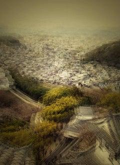 Himeji View 3- semi abstract urban cityscape photograph