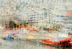 Kavala View- semi abstract contemporary urban cityscape photograph