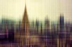 Tokyo View- semi abstract earth tone urban cityscape photograph