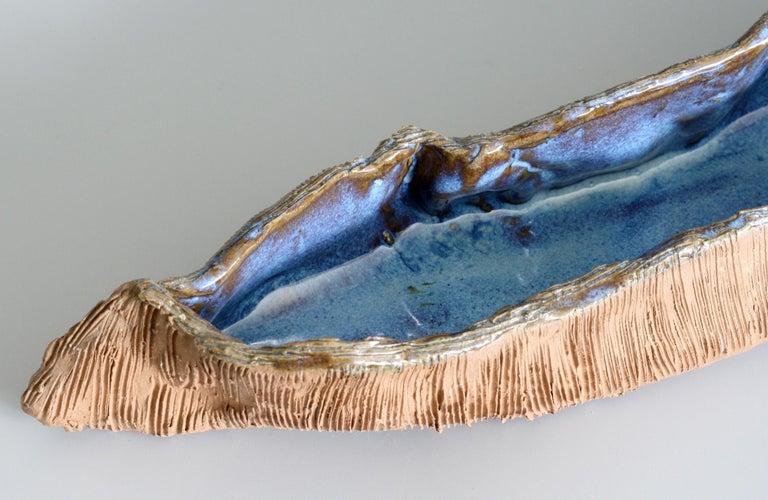 Stephanie Kalan Studio Pottery Handcrafted Brutalist Sculptural Bowl In Good Condition For Sale In Bishop's Stortford, Hertfordshire