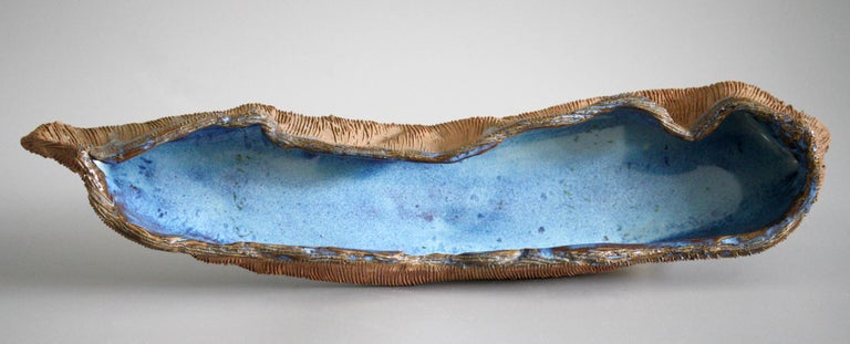 Mid-20th Century Stephanie Kalan Studio Pottery Handcrafted Brutalist Sculptural Bowl For Sale