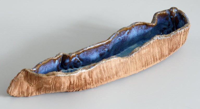 Stephanie Kalan Studio Pottery Handcrafted Brutalist Sculptural Bowl For Sale 1