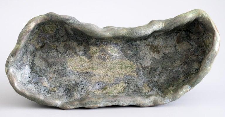 Stephanie Kalan Studio Pottery Hand Formed Brutalist Sculptural Bowl For Sale 2
