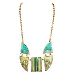 Stephanie Kantis Contemporary Enamel Inlaid Necklace