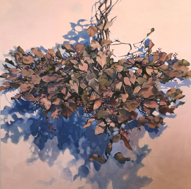Stephanie Peek Still-Life Painting - Dawnlight / eucalyptus leaves - A natural abstraction through applied realism
