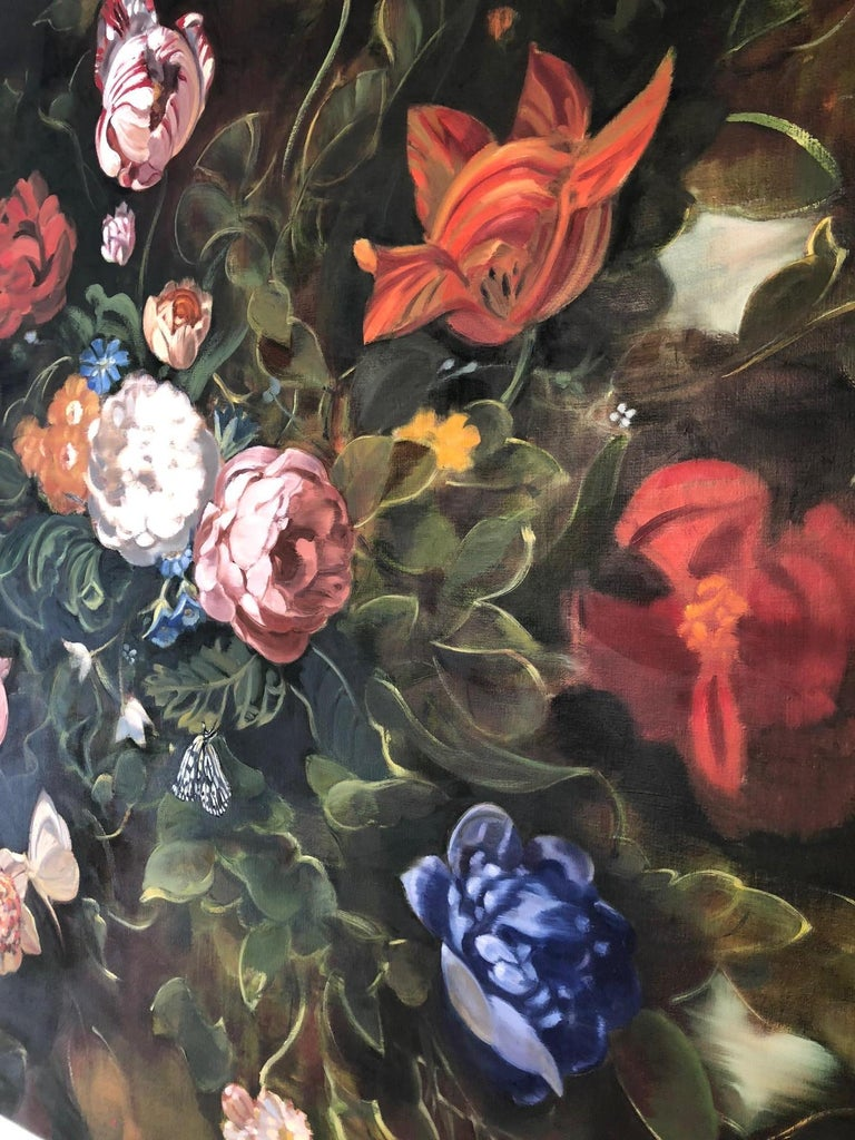 Double Dutch II  /  oil on canvas floral dark 3