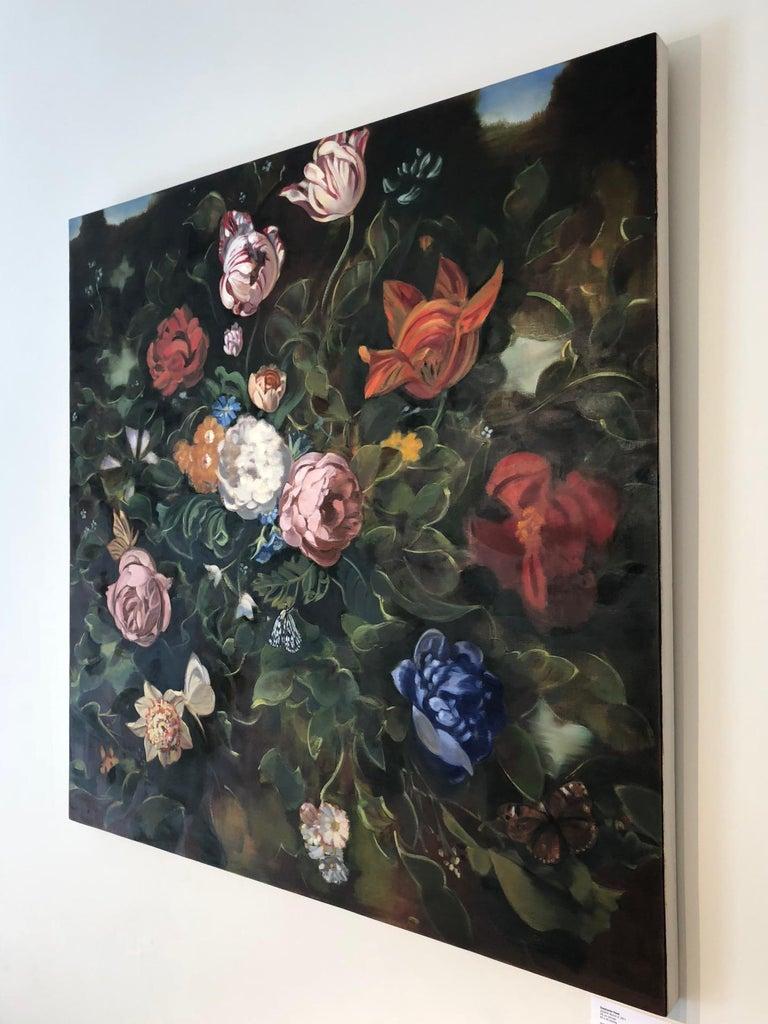 Double Dutch II  /  oil on canvas floral dark 2