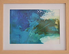 """""""Quencia: 15 """"  oil on paper, framed"""