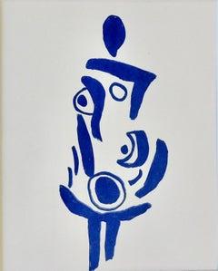 Blue Dress       Silk screen print by S. Wheeler