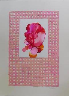 """""""Pink Adorn III"""" Mixed Media Collage by S. Wheeler"""