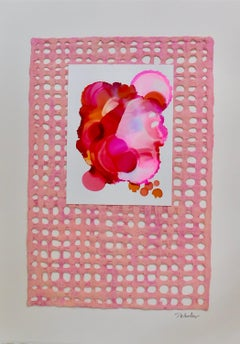 Pink Adorn Mixed Media , Collage by s. Wheeler