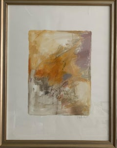 Pastel and Watercolor Abstract Framed by S. Wheeler