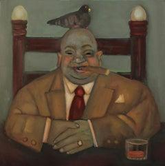 Dealmaker, businessman character study cigar bird narrative