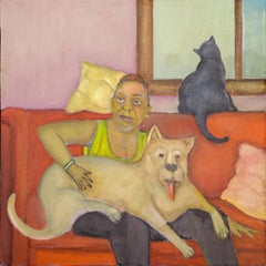 Viola and the Gatekeepers humans and animals bright color cats and dogs